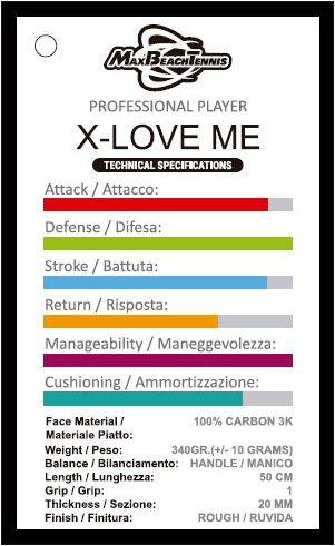 Raquete de Beach Tennis MBT X Love-ME - 2021  - PROTENISTA