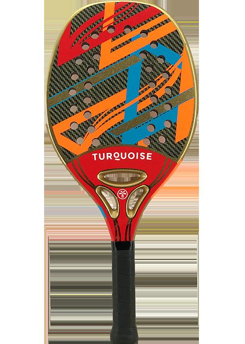 Raquete de Beach Tennis Turquoise Revolution 2.1 - Red  - PROTENISTA
