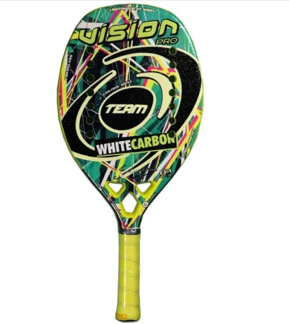Raquete de Beach Tennis Vision White Carbon Team - 2020  - PROTENISTA