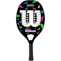 Raquete de Beach Tennis Wilson Energy - Preta e Branca  - PROTENISTA