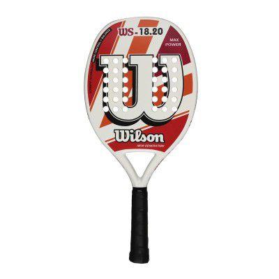 Raquete de Beach Tennis Wilson WS 18.20 Branca/Vermelha