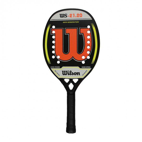 Raquete de Beach Tennis Wilson WS 21.20 Preta e Laranja