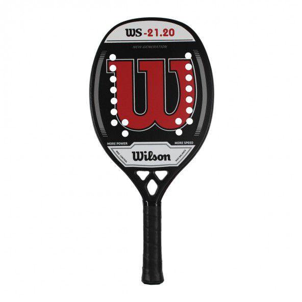 Raquete de Beach Tennis Wilson WS 21.20 Preta e Vermelha