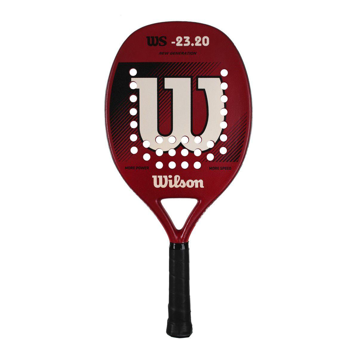 Raquete de Beach Tennis Wilson WS 23.20 Vermelha e Branca