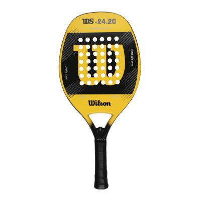 Raquete de Beach Tennis Wilson WS 24.20 Preta e Amarela