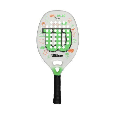 Raquete de Beach Tennis Wilson WS 25.20 Infantil Branca e Verde