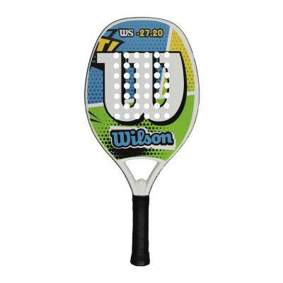 Raquete de Beach Tennis Wilson WS 27.20 Azul/Verde/Branca