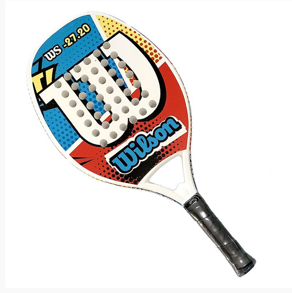 Raquete de Beach Tennis Wilson WS 27.20 Azul/Vermelha/Branca