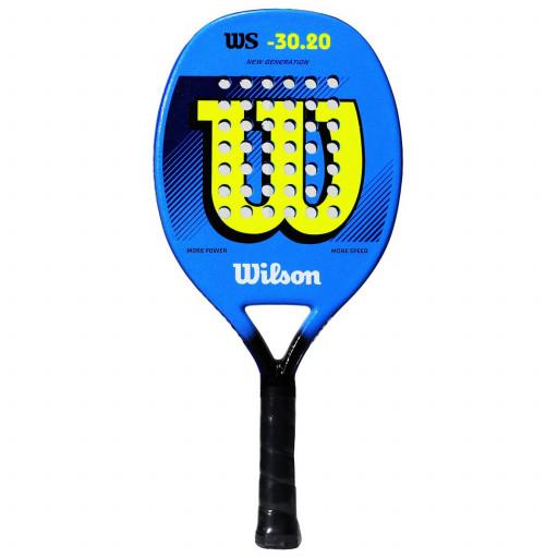 Raquete de Beach Tennis Wilson WS 30.20 - Azul e Amarela  - PROTENISTA