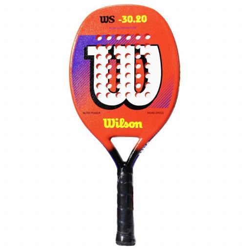 Raquete de Beach Tennis Wilson WS 30.20 - Laranja e Branca  - PROTENISTA