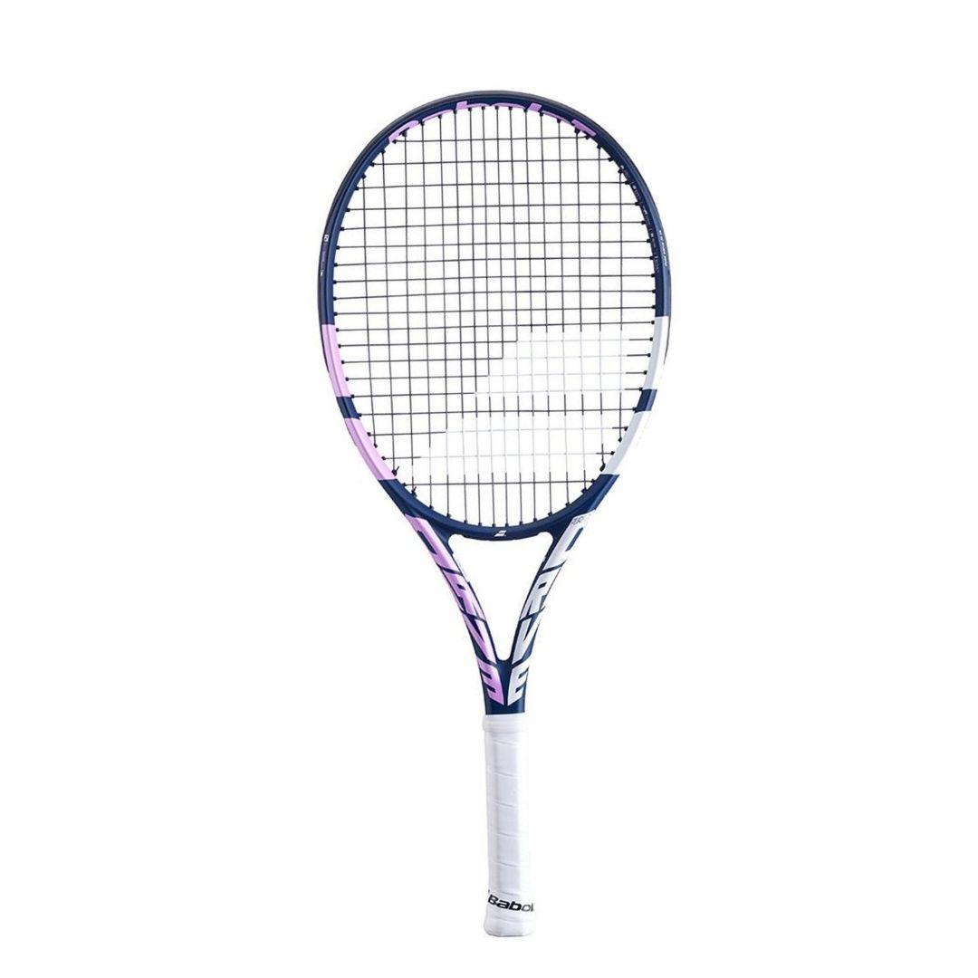 Raquete de Tênis Babolat Infantil Drive Junior 25 Azul Rosa e Branca - 2021  - PROTENISTA