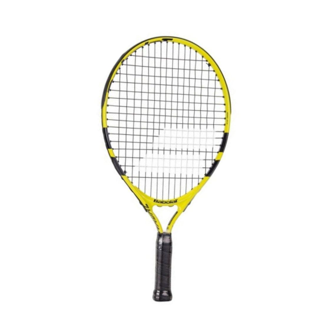 Raquete de Tênis Babolat Nadal Junior 19 Amarela e Preta  - PROTENISTA