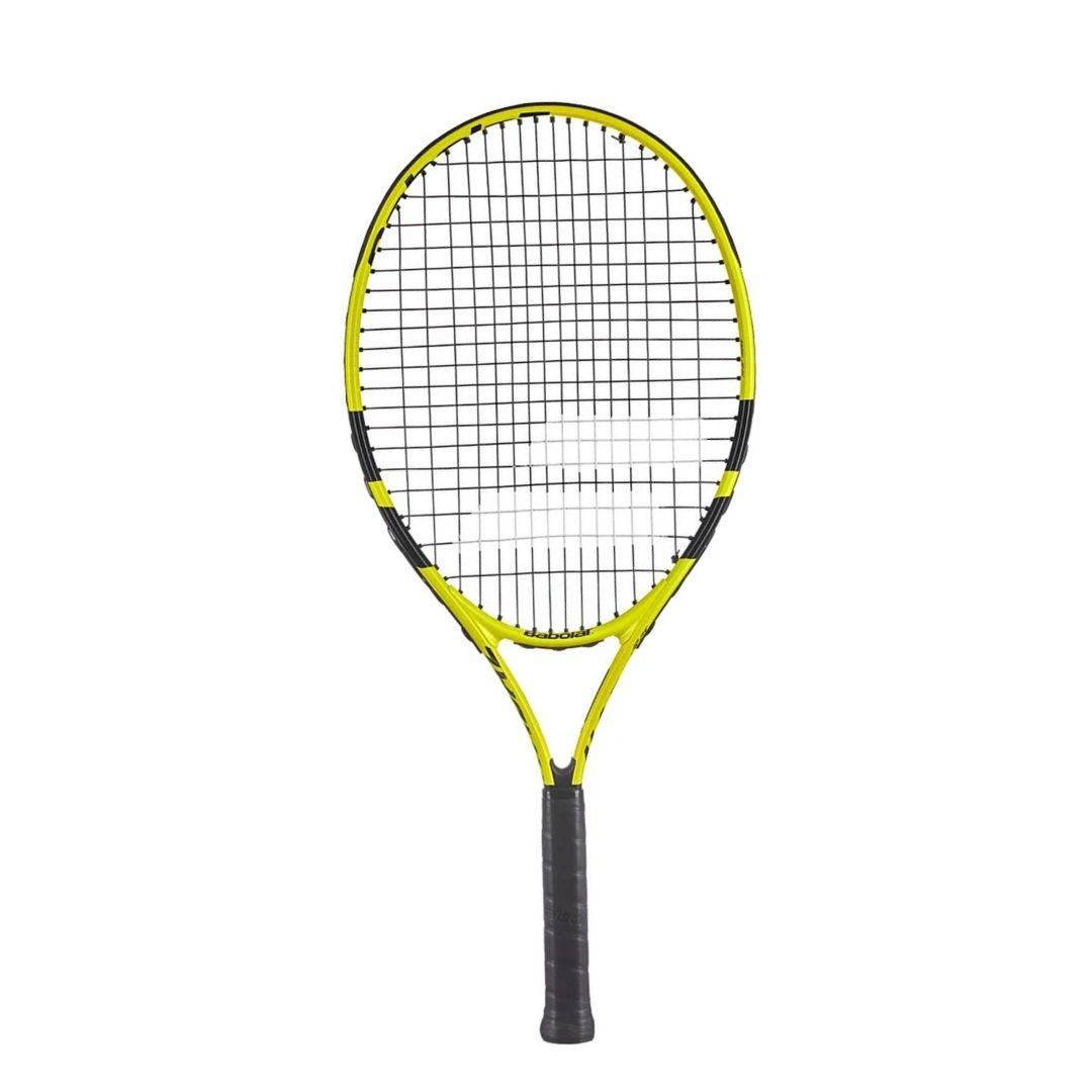 Raquete de Tênis Babolat Nadal Junior 26 Amarela e Preta  - PROTENISTA