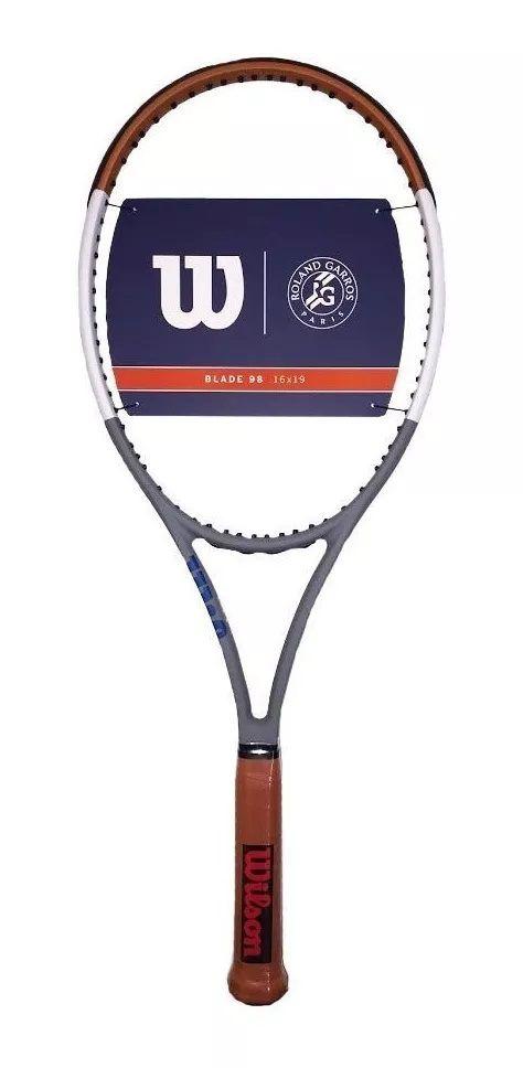 Raquete de Tenis Wilson Blade 98 16X19 V7 Roland Garros - Edição Limitada 2020  - PROTENISTA