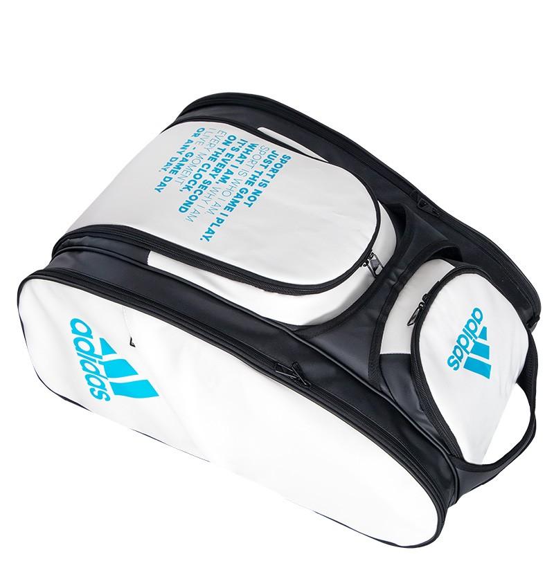 Raqueteira Adidas Multigame Para Padel e Beach Tennis Branca e Preta  - PROTENISTA