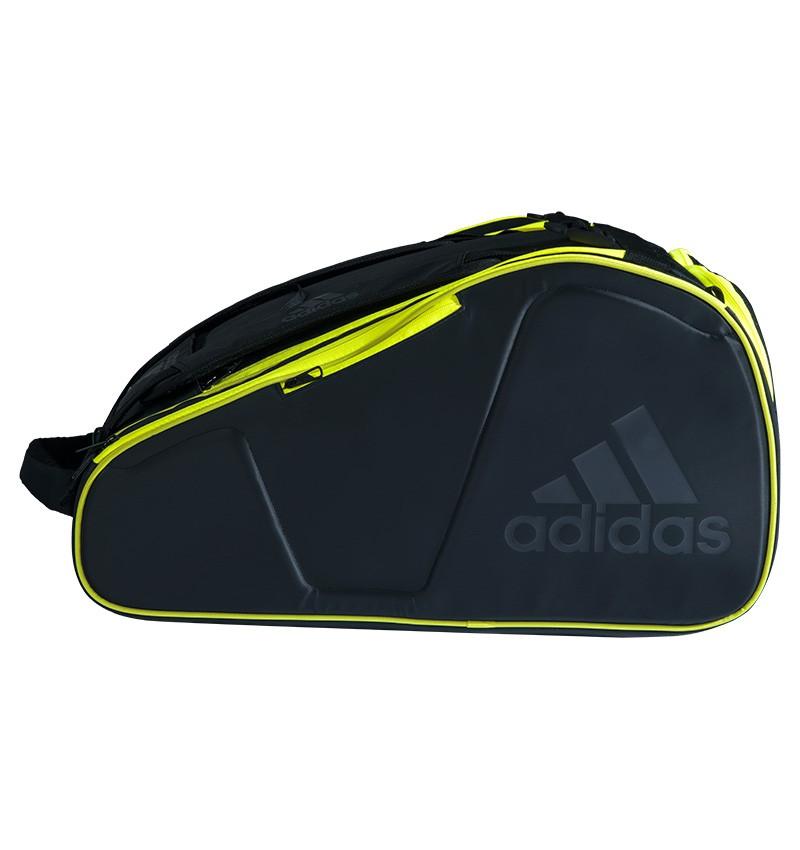 Raqueteira Adidas Protour Para Padel e Beach Tennis Preta e Limão  - PROTENISTA