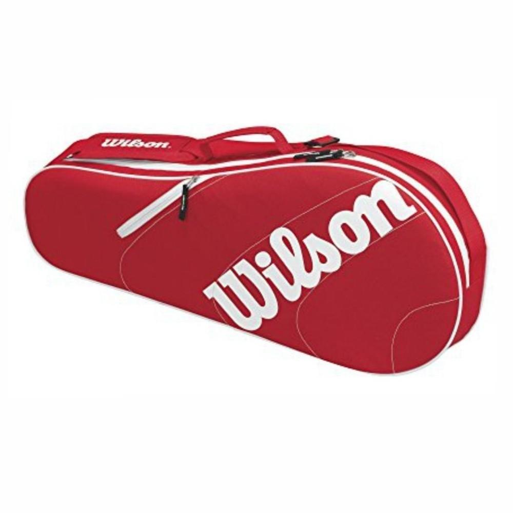 Raqueteira Advantage Team Tripla - Vermelha e Branca  - PROTENISTA