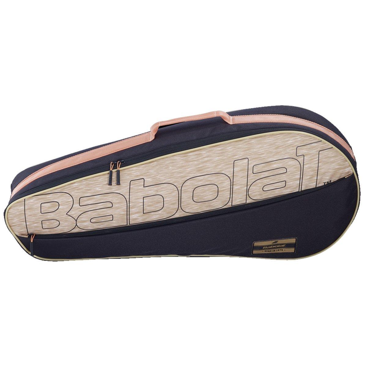 Raqueteira Babolat Essential 3R Preto e Bege - 2021  - PROTENISTA