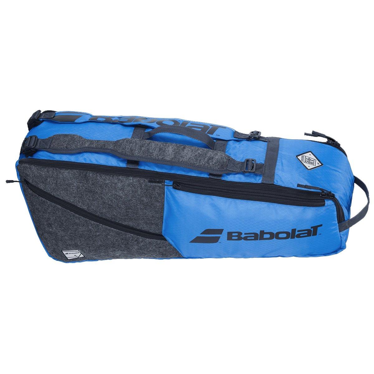 Raqueteira Babolat Rh6 Evo Azul e Cinza - 2021  - PROTENISTA