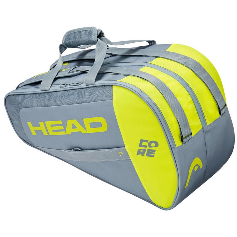 Raqueteira Beach Tennis Head Core - Cinza e Amarelo  - PROTENISTA
