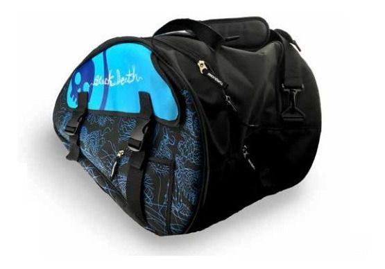 Raqueteira de Beach Tennis Turquoise Black Death Azul 2019