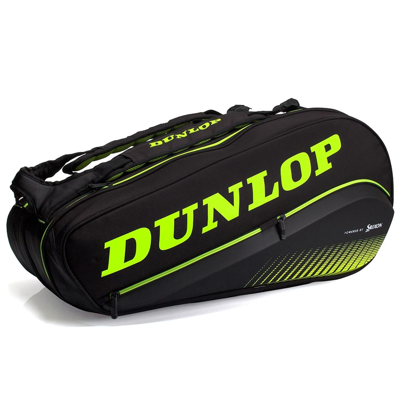 Raqueteira Dunlop Sx Performance X8 Preta e Verde  - PROTENISTA