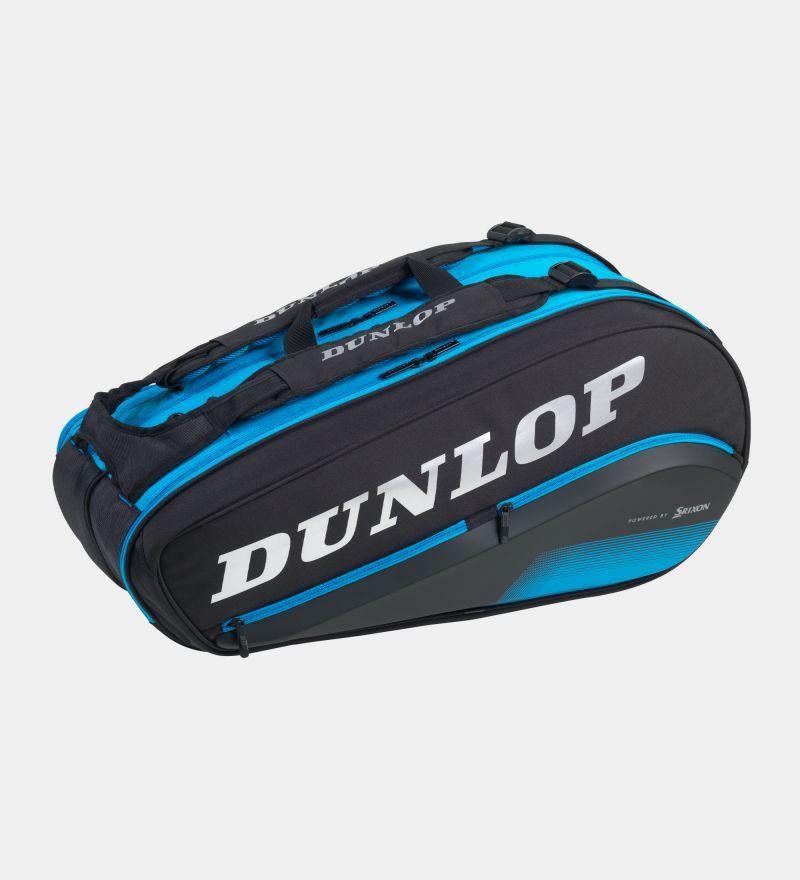 Raqueteira Dunlop Thermo Fx Performance 8  - Preta e Azul  - PROTENISTA