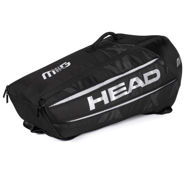 Raqueteira Head MXG 6R - Preta e Prata