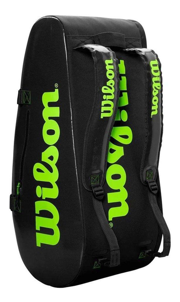 Raqueteira Super Tour 9r Preta e Verde Modelo 2020 - Wilson