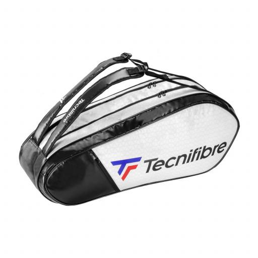 Raqueteira Tecnifibre Tour RS Endurance 6R Dupla Preta e Branca  - PROTENISTA