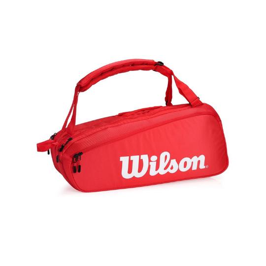 Raqueteira Wilson Super Tour 6Pk Vermelha  - PROTENISTA