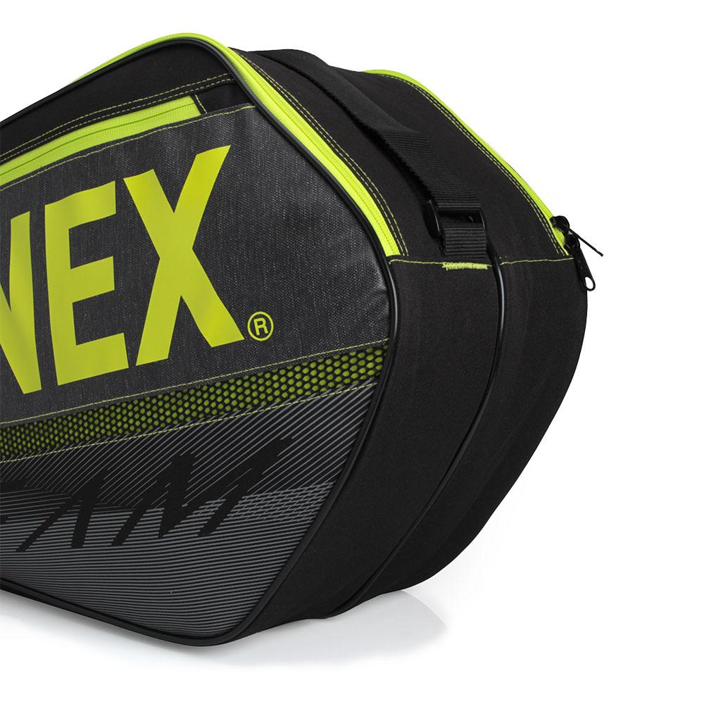Raqueteira Yonex  X6 Team - Preta com Amarelo Dupla  - PROTENISTA