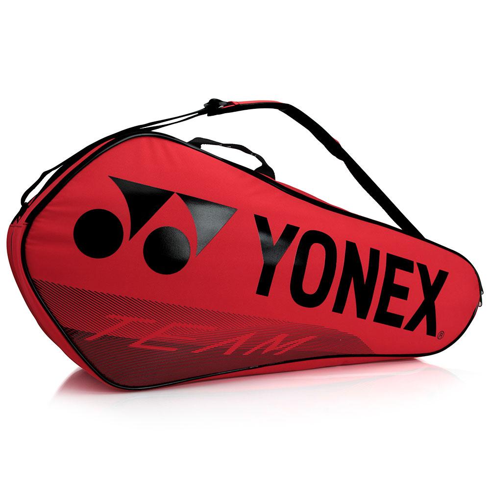 Raqueteira Yonex  X6 Team - Vermelha e Preta Dupla  - PROTENISTA
