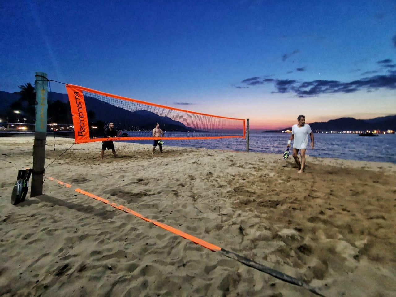 Rede de Beach Tennis ProTenista 4 Lonas - Laranja