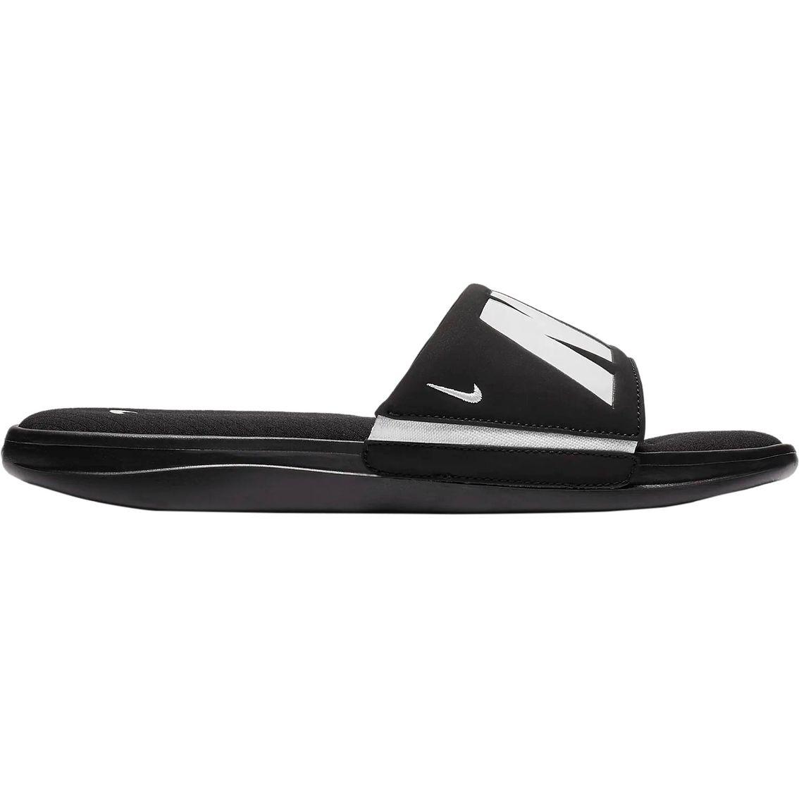 Sandalia Nike Ultra Comfort 3 Slide Masculino - Preto e Branco  - PROTENISTA