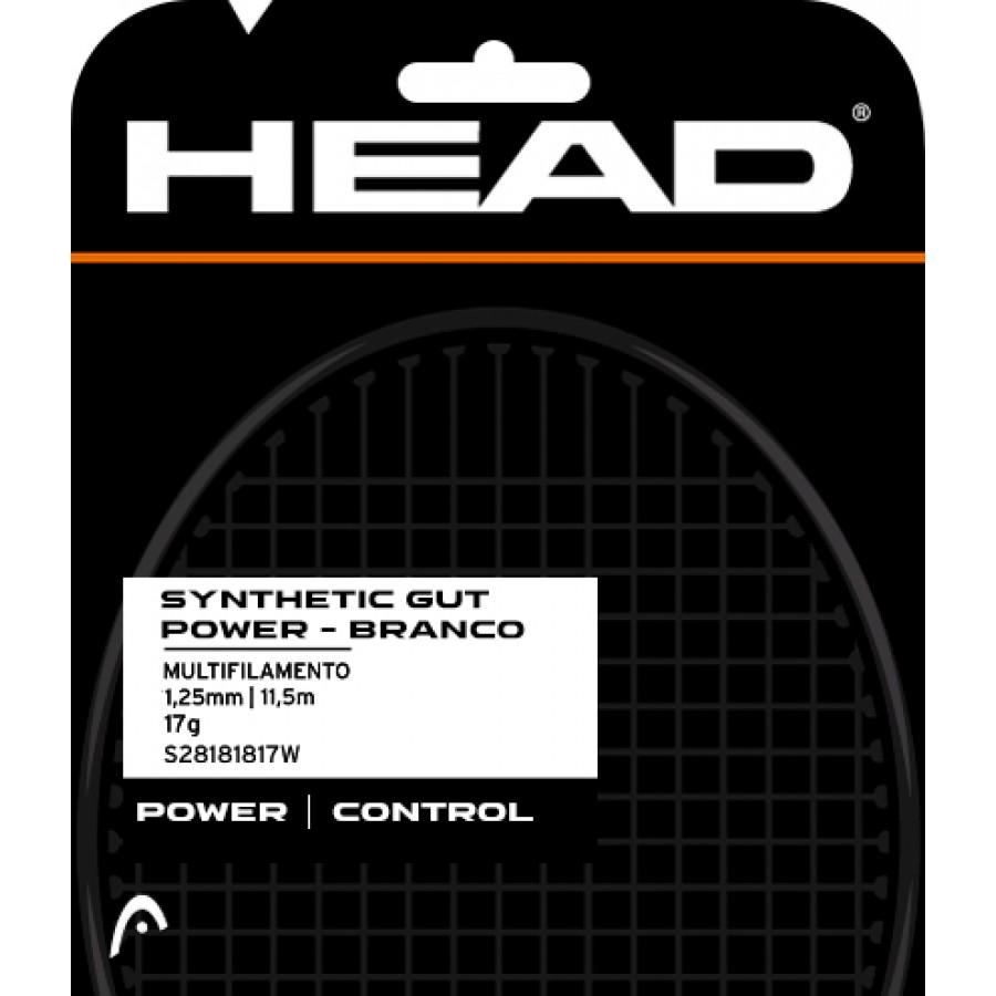 Set Head DLD de Corda Synthetic Gut Power 17 - Branco  - PROTENISTA