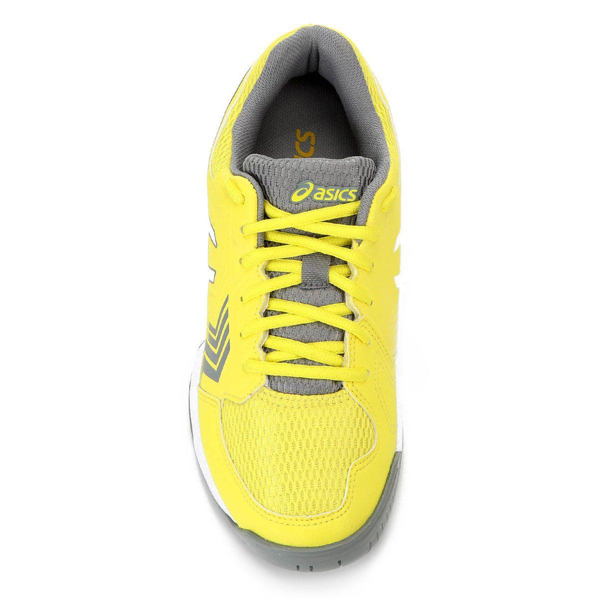 Tênis Asics Gel-Dedicate 5A Feminino - Branco e Amarelo
