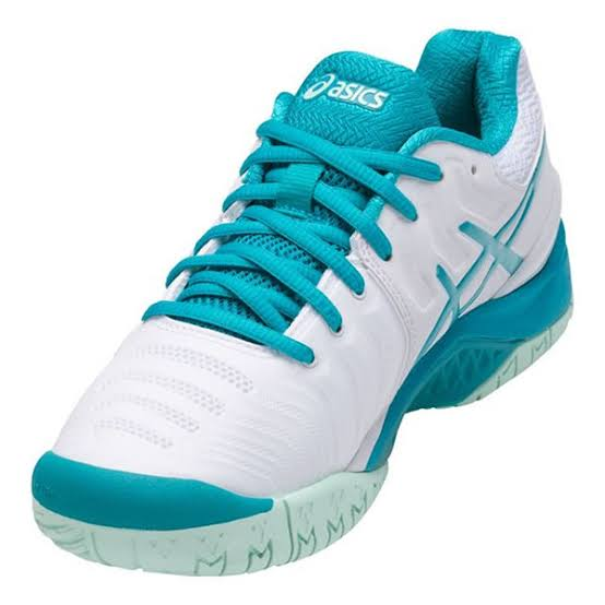 Tênis Asics Gel Resolution 7 Branco e Verde - Feminino - All Court