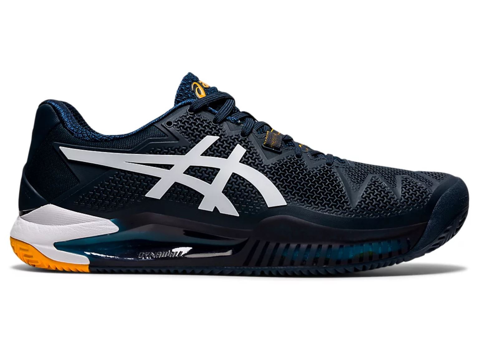 Tênis Asics Gel Resolution 8 French Azul e Branco  - PROTENISTA
