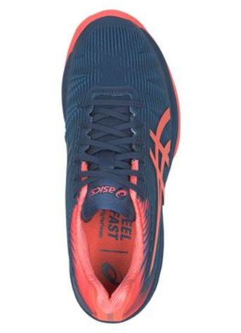 Tênis Asics Solution Speed FF - Feminino Azul e Papaia