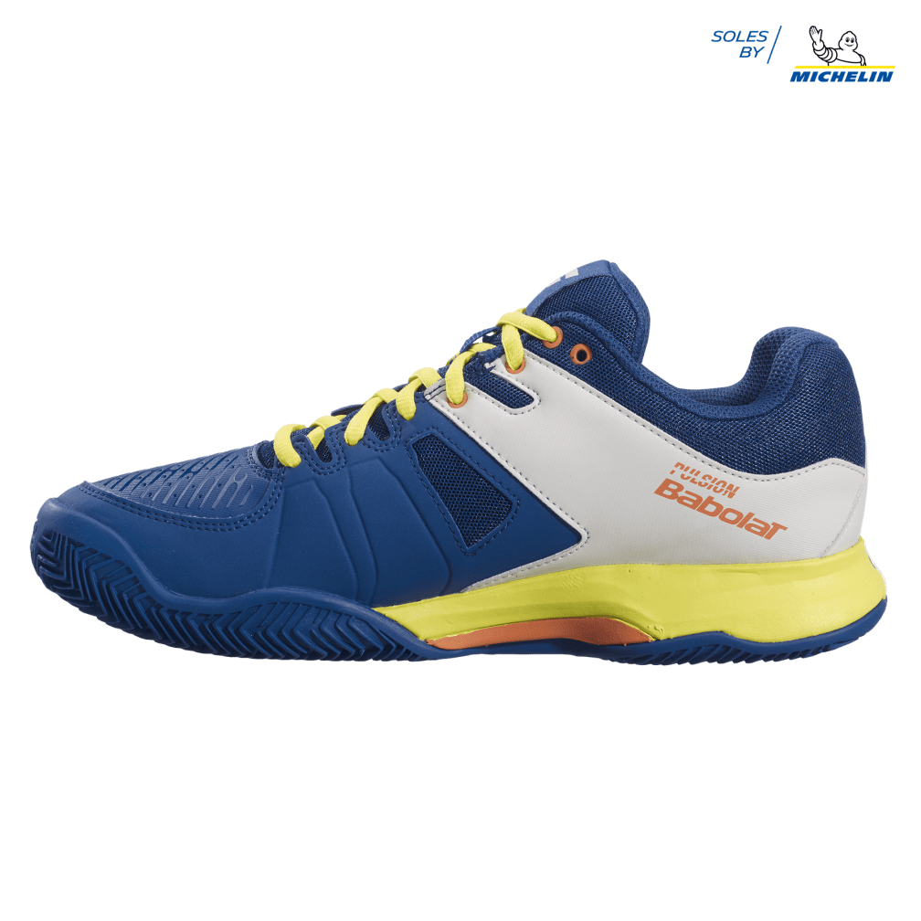 Tênis Babolat Pulsion Clay - Azul e Amarelo  - PROTENISTA
