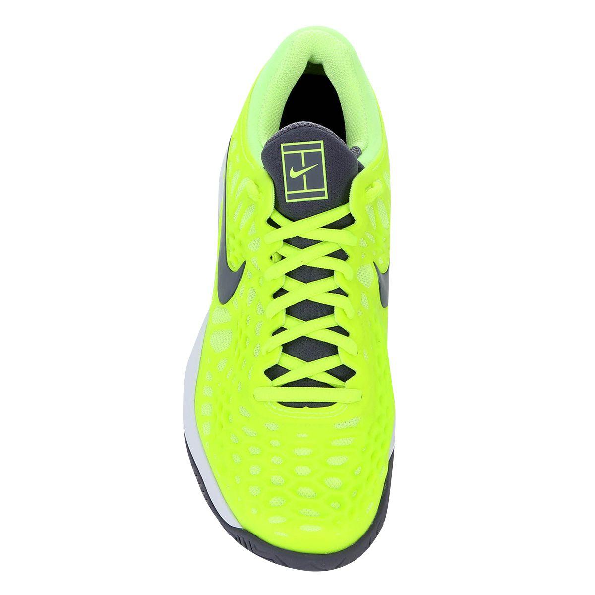 Tênis Nike Air Zoom Cage 3 HC Rafael Nadal - Amarelo Limão e Cinza