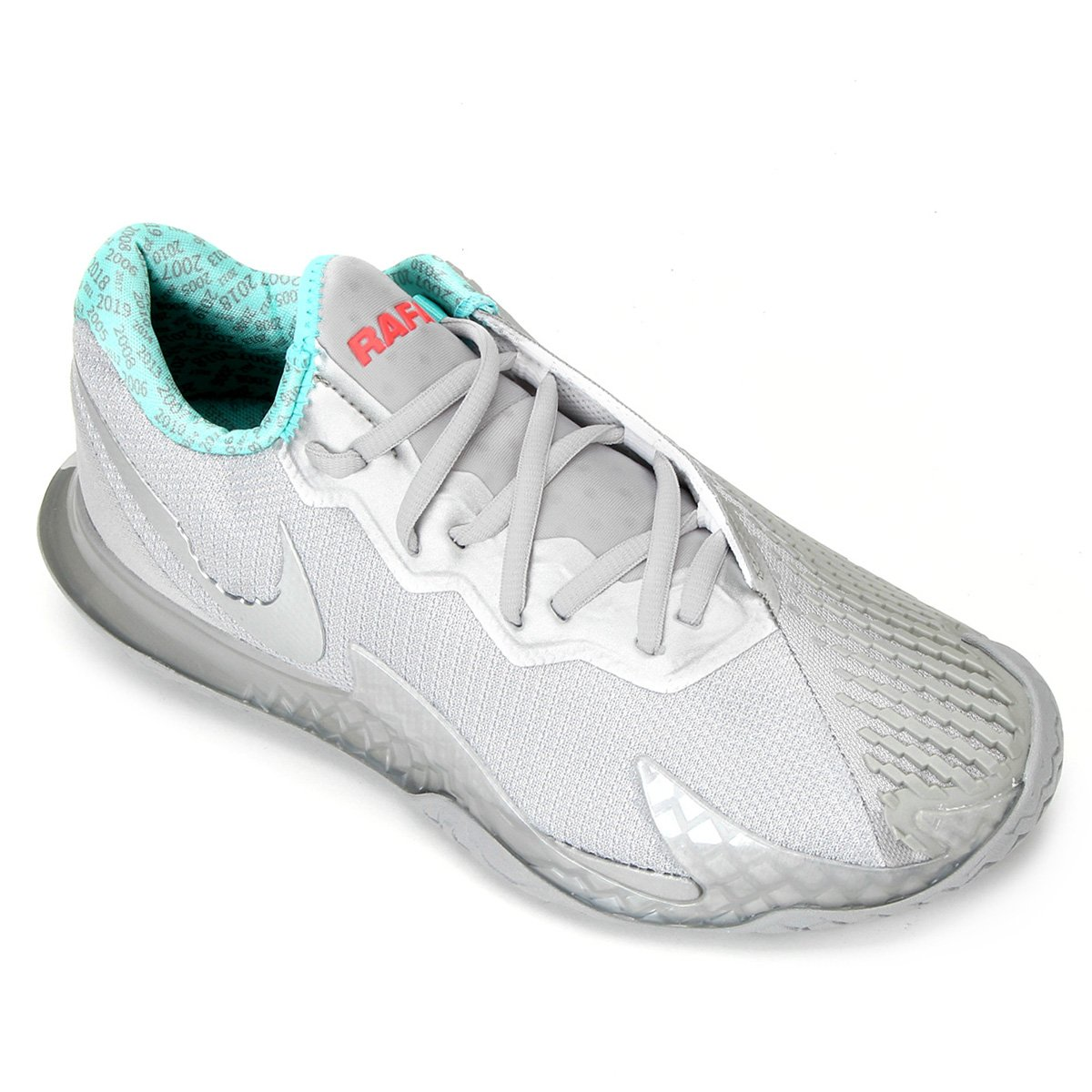 Tênis Nike AirZoom Vapor Cage 4 HC Masculino - Prata  - PROTENISTA