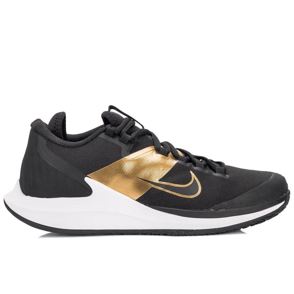 Tênis Nike Court  Air Zoom Zero HC Preto e Dourado