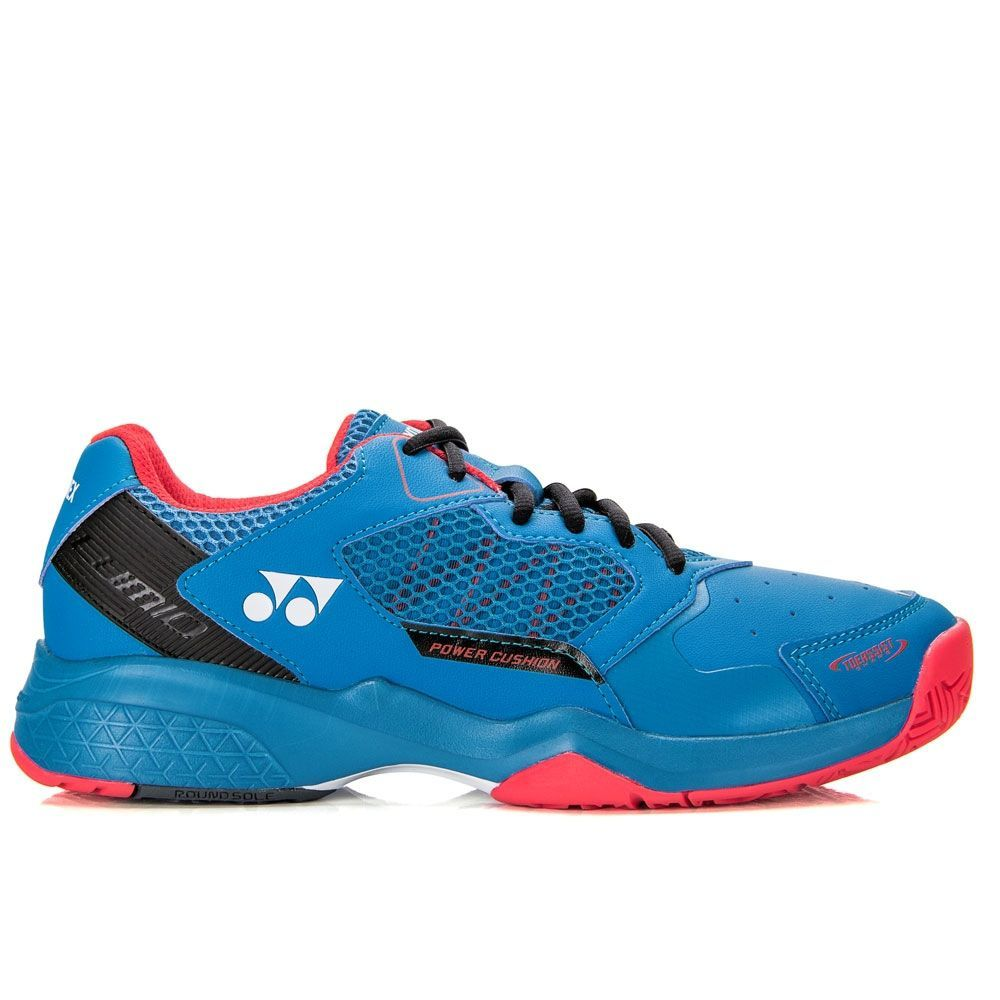 Tênis Yonex Power Cushion Lumio 2 All Court Azul Preto e Vermelho