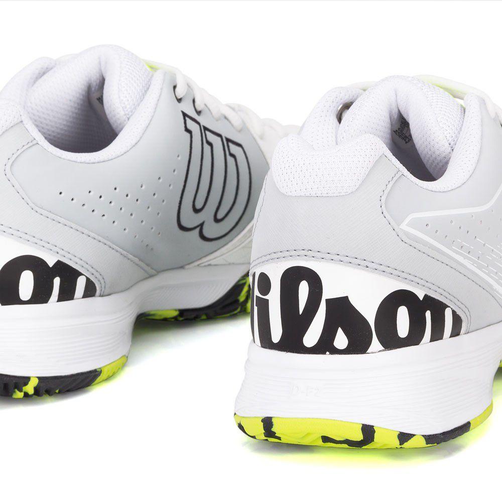 Wilson Kaos Devo Branco Cinza e Verde Limão