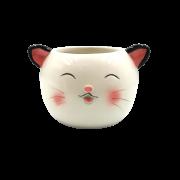 Cachepo de ceramica - modelo gatinho