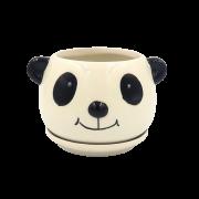 Cachepo de ceramica - modelo panda
