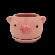 Cachepo de ceramica - modelo porquinho