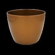 Cachepo elegance redondo 12x14 cm - dourado